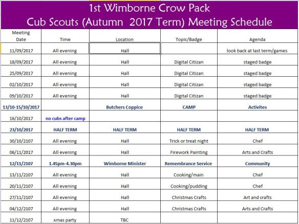 Crow Autumn 17 Programme
